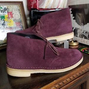 Clarks Desert Boots Bordeaux Suede Men's Sz 10